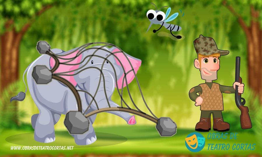 El Mosquito Paquito y el Elefante Dante obra teatro corta infantil