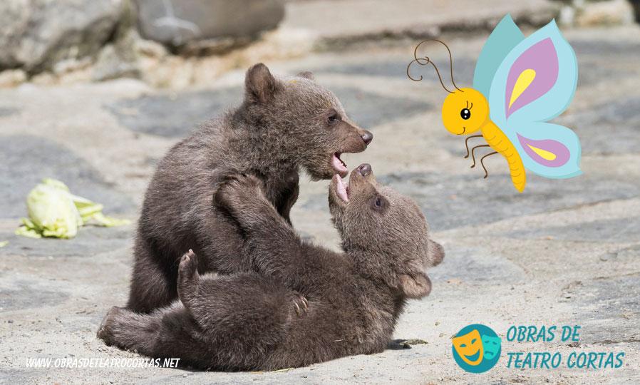 Los pequeños osos obra de teatro corta infantil 4 personajes